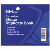 Silvine Carbonless Duplicate Book 4.1x5 inches Memo 703-T