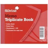 Silvine Triplicate Book 4x5 inches Memo 607