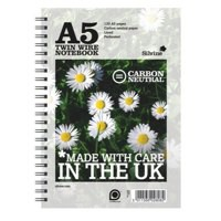 Silvine Co2 Neutral A5 Twin Wire Notebook White 120 Pages R303