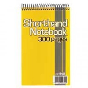 Silvine Spiral Bound Shorthand Notebook 127x203mm 150 Leaf Ruled Feint (Pk 6) 449