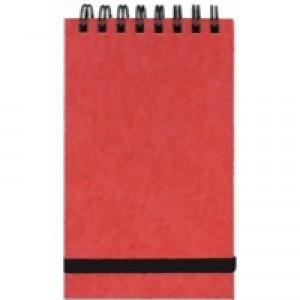 Silvine Spiral Bound Elastic Band Notebook 127x76mm 96 Leaf Ruled Feint 194