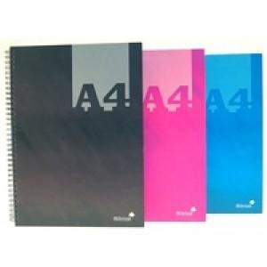 Silvine A4 Casebound Twin Wire Notebook Assorted THBA4AC