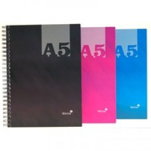 Silvine A5 Casebound Twin Wire Notebook Assorted THBA5AC