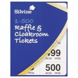 Silvine Cloakroom Ticket 1-500 5555