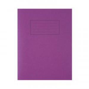 Silvine 9 x 7 Exercise Books Feint and Margin Purple EX100