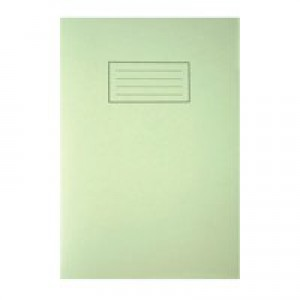 Silvine A4 Exercise Book 80 Pages Ruled Feint and Margin Green EX110