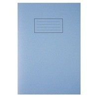 Silvine A4 Exercise Book 80 Pages Plain Blue EX114