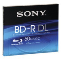 Sony Blu-Ray Laser Disk BD-R 50Gb Write Once BNR50A