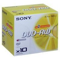 Sony DVD-RW 4.7Gb Jewel Case Pack of 10 10DMW47A
