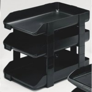 Rexel Agenda 55 Letter Tray 55mm Deep Charcoal Code 25206