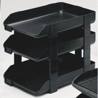 Twinlock Letter Tray Charcoal 25206