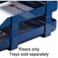 Twinlock V/H Risers Pk5 Blue 25225