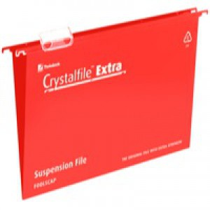 C/File Extra Fs Std Susp.File Red Pk25