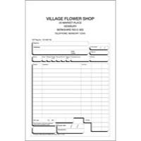 Twinlock Scribe 855 Counter Sales Receipt Business Form 3-Part 216x140mm Ref 71707 [Pack 75]