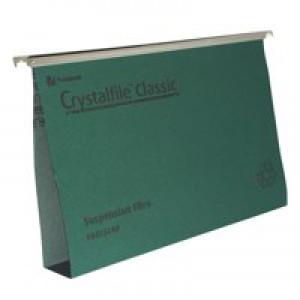 Twinlock Crystalfile Suspension File Foolscap 50mm Capacity Green Box 50 Code 71750
