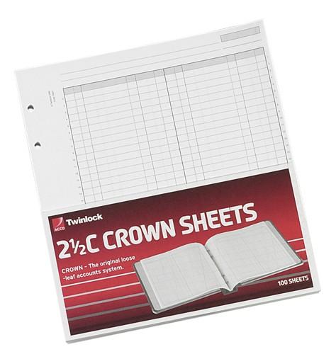 Twinlock 2.5C Crown Treble Cash Sheets Ref 75839 [Pack 100]