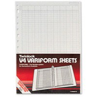 Twinlock V4 Variform 7 Column Cash Sheets Ref 75933 [Pack 75]