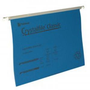 Twinlock Crystalfiles A4 Blue Pk50