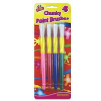 Image for Tallon Chunky Paint Brushes Set of 4 5123