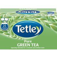 Tetley Draw String Tea Bag Pure Green Pk25x6 1293A