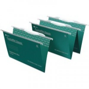 Twinlock CrystalFile Classic Standard Foolscap Linked Green Pack of 50 3000030