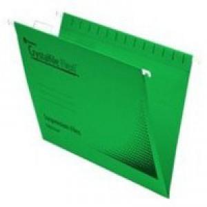Twinlock CrystalFile Flexi Standard Foolscap Green Pack of 50 3000040