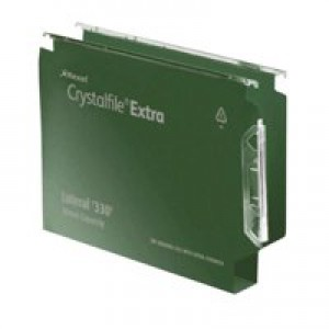 Twinlock CrystalFile Lateral File 330 50mm Green Pack of 25 70672