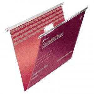 Twinlock CrystalFile Classic Suspension File Complete A4 Red Pack of 50 78161