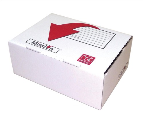 Posting Box Small Mailing Box White Pack of 20 Q01167