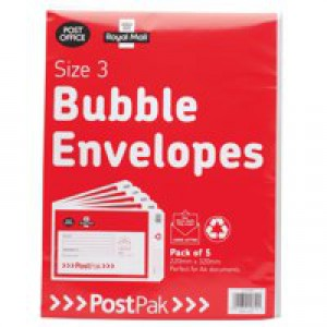 Own Brand Postpak Bubble Envelope Size 3 Pack of 40 41631
