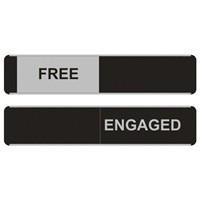 Stewart Superior Sliding Sign Free/Engaged OF135