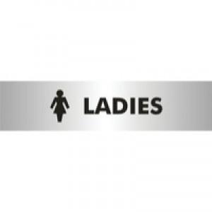Acrylic Sign Ladies Aluminium 190 x 145mm SR22357