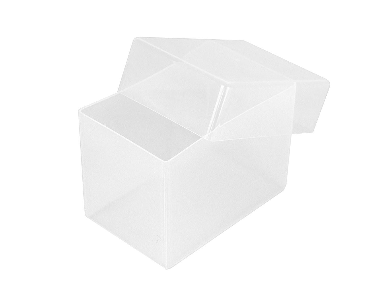 Deep Business Card Box 5pk - Clear