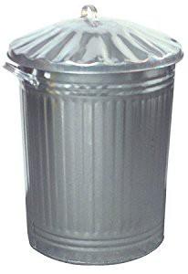 Galvanised Dustbin 90 Litre with Metal Lid