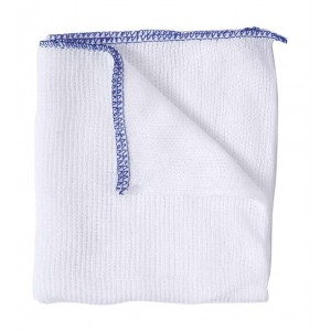 Bleached Dishcloths Pk 10 - Blue