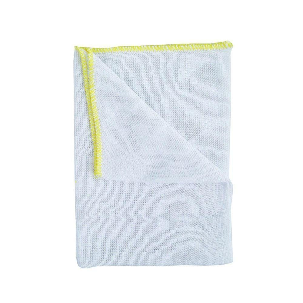 Bleached Dishcloths Pk 10 - Yellow