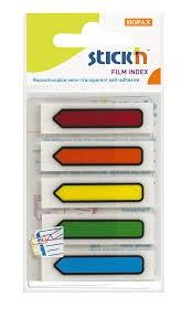 Arrow Index 45x12mm 5 Strip Set