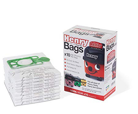 Henrey Hoover Fabric Bags Pk10