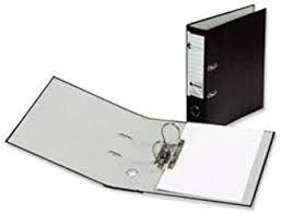 Normans Cloud Foolscap Lever Arch Files Black Pk10