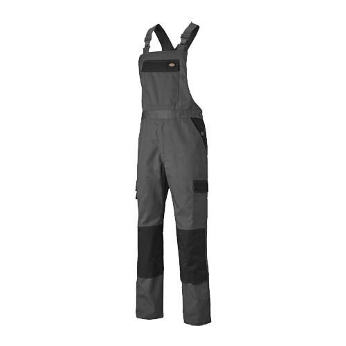 Dickies Everyday Bib & Brace - Grey/Black - 44 R