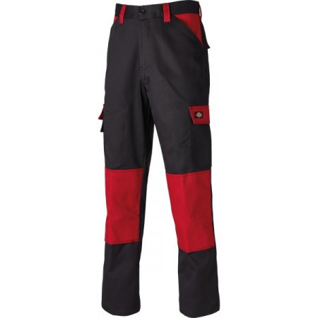 Dickies Everyday Trousers - Black/R Red - Size 40