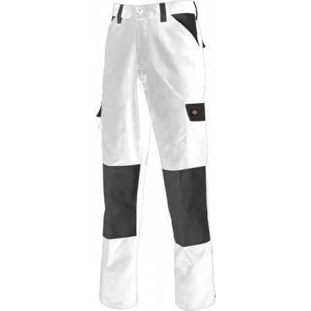 Dickies Everyday Trousers - White/Grey - Size 40