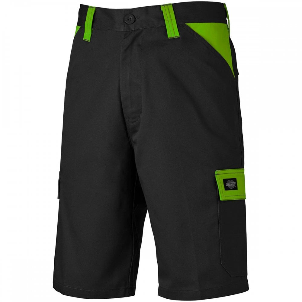 Dickies Everyday Shorts - Black/Lime - Size 32
