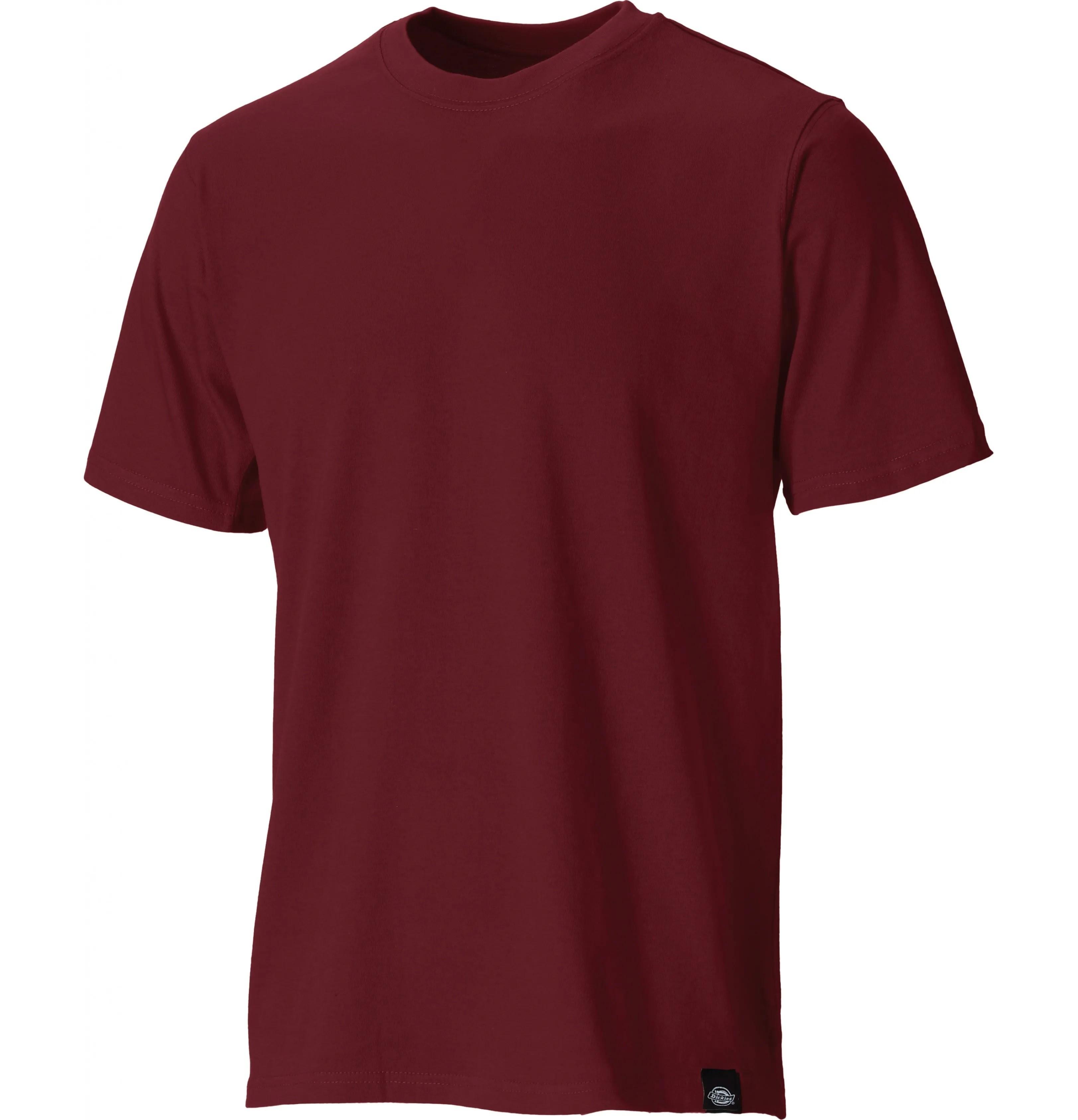 Dickies Cotton T Shirt - Burgundy - XXXL