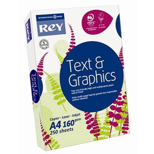 Rey Text & Graphics A4 160gsm Card (pk250)