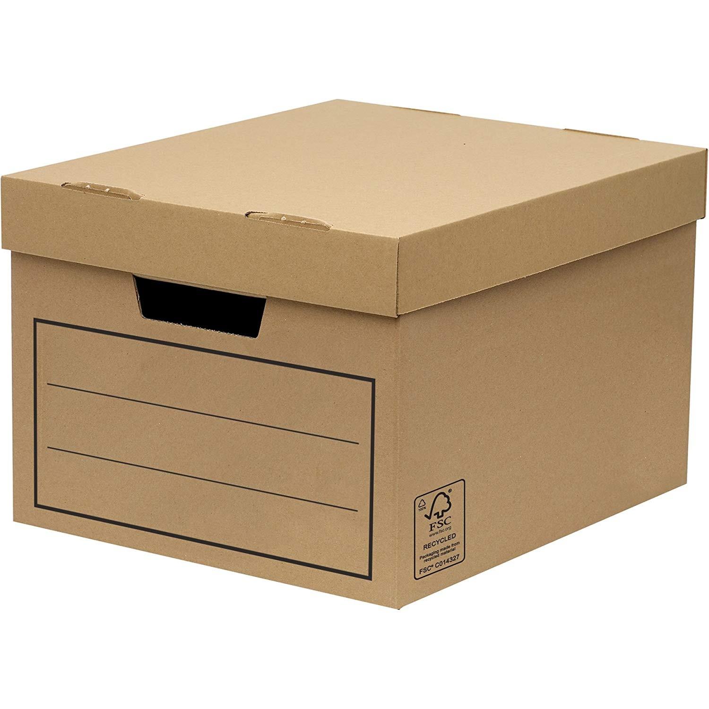 General Archive Storage Box Brown 32 x 25 x 39cm Pk10