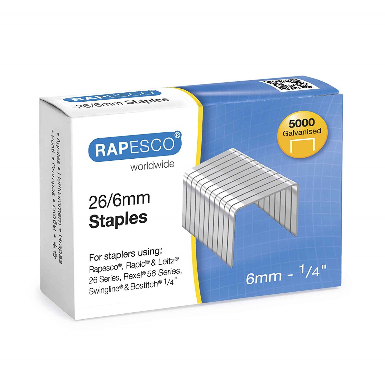 Rapesco Staples 26/6 Box 5000