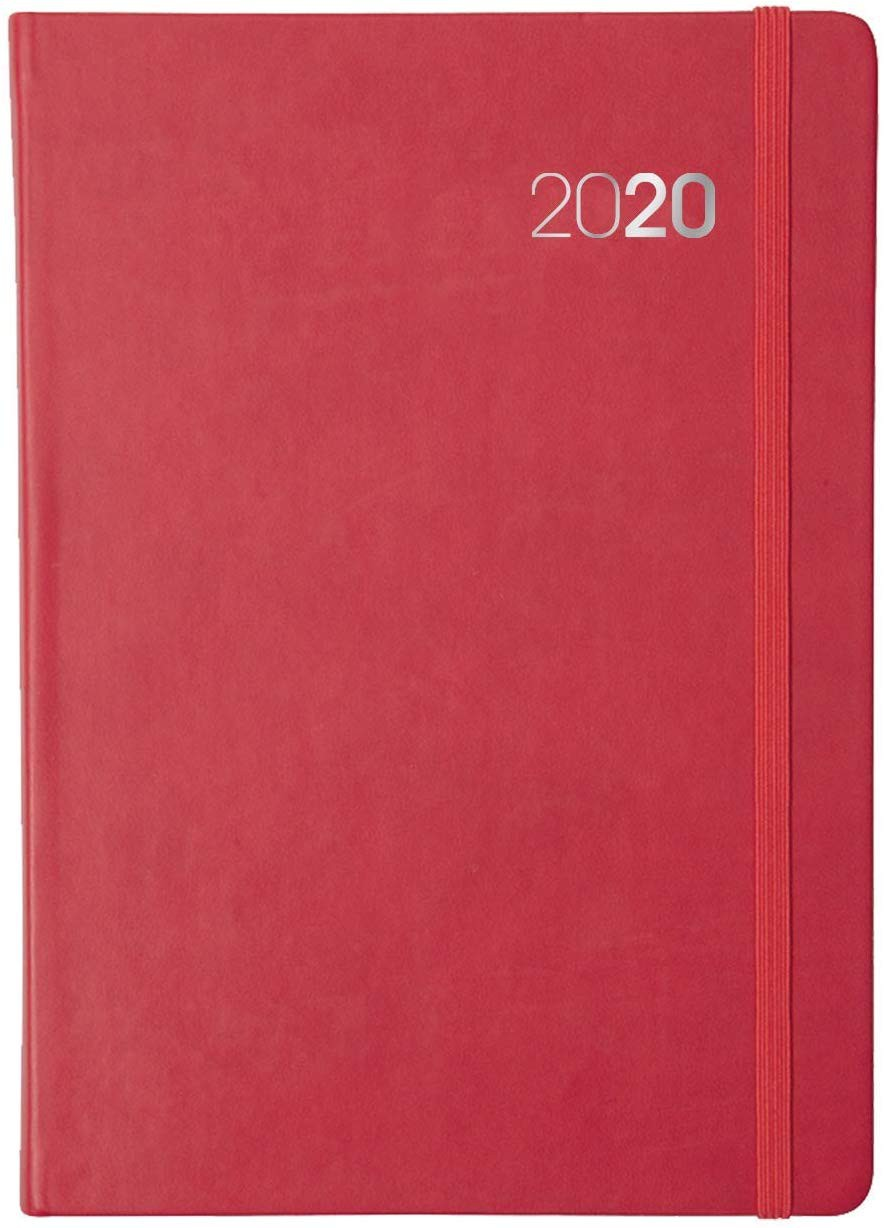Collins Legacy A5 Day to Page 2020 Diary Red