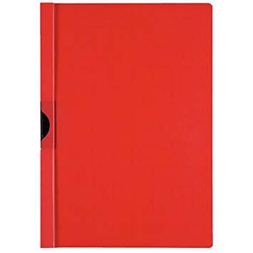 Normans Polypropylene Clip File Red Pk25