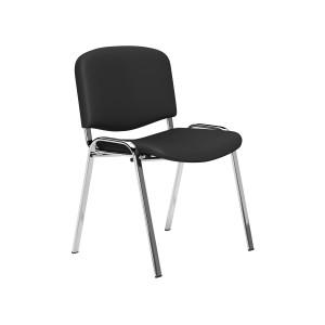Image for  OI Series Chrome Frame Side Chair Black Vinyl